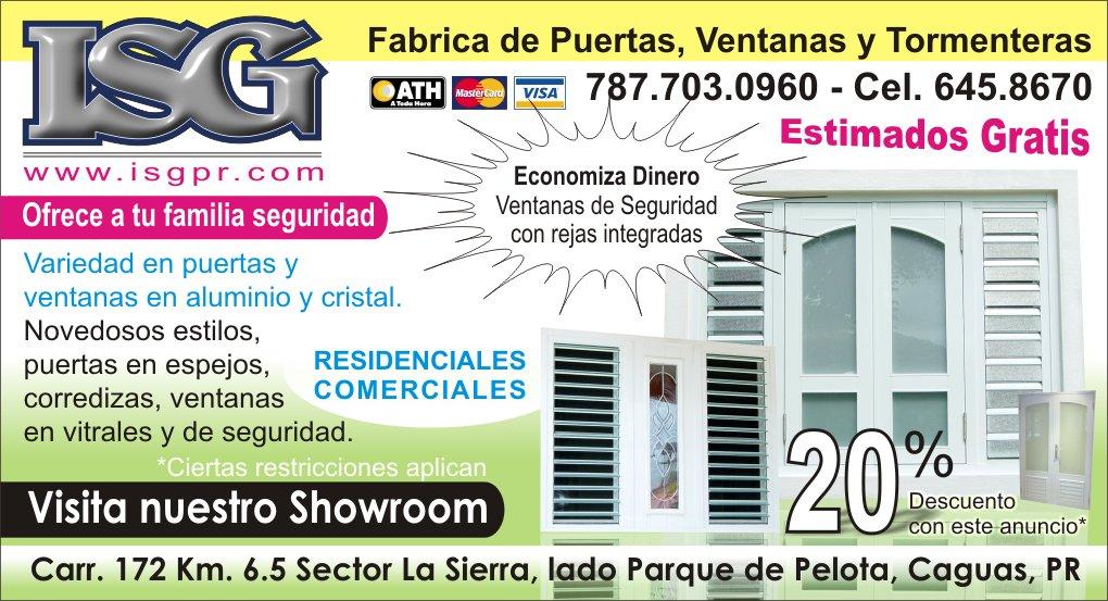Isg f brica de puertas ventanas y tormenteras for Fabrica de puertas en villacanas